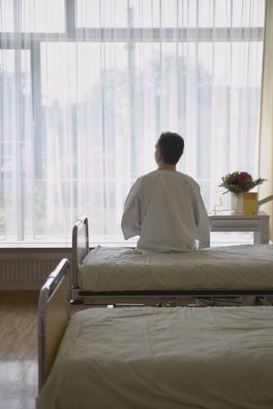 patient on a ward bed