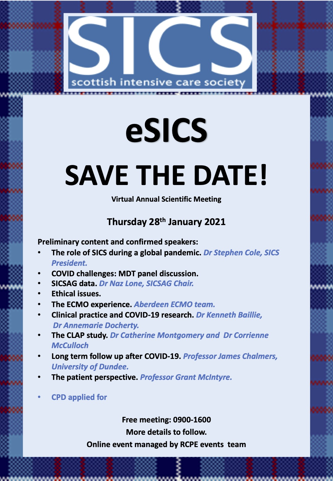 eSICS 2021 poster save the date